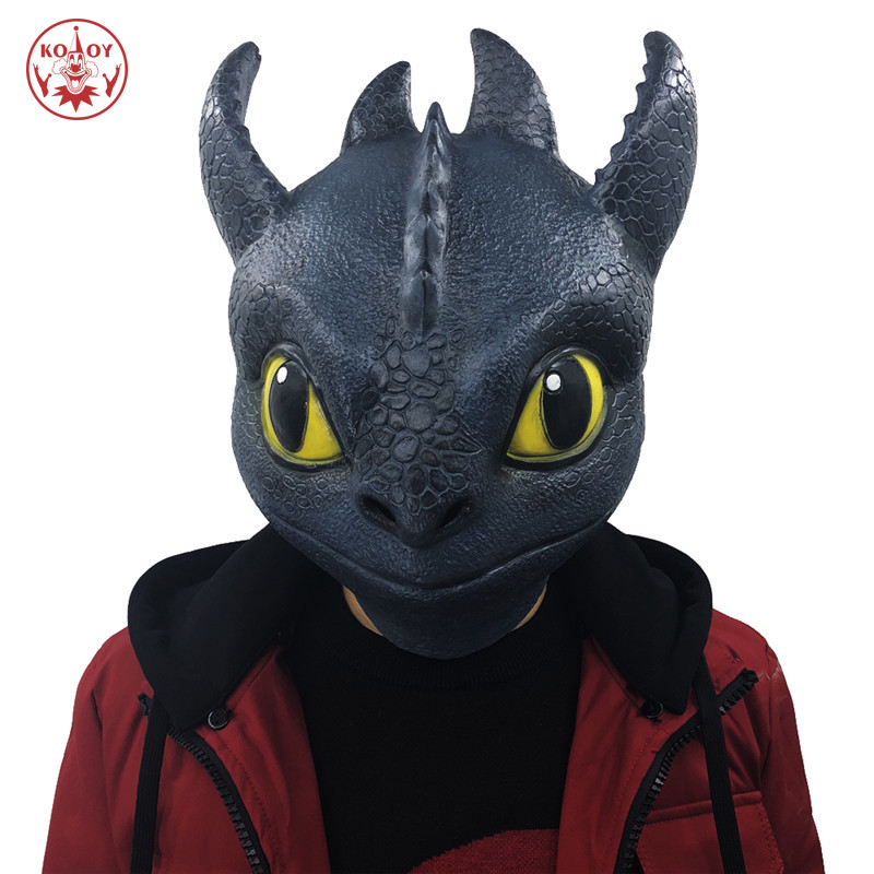 How To Train Your Dragon cosplay mask Helmet Adult Halloween Party The Hidden World Toothless Night Horror dragon latex masks