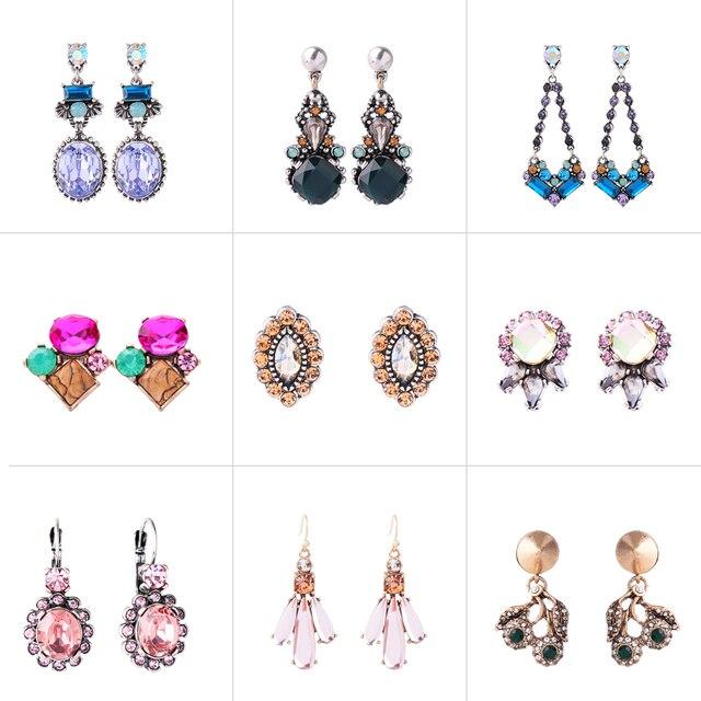 ME BEIJAR 18 Estilos Lágrima De Cristal de Vidro Flor Geométrica Brincos para As Mulheres Novo Design de Moda Acessórios de Jóias