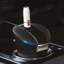 Настольное зарядное устройство для iqos 2,4 Plus, для дома, офиса, черного цвета, пепельница, с отверстием, для зарядки автомобиля, 3 в 1, многофункциональное зарядное устройство с чашкой