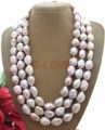 3 strands  16 MM Purple Baroque Pearl Necklace    free shipment