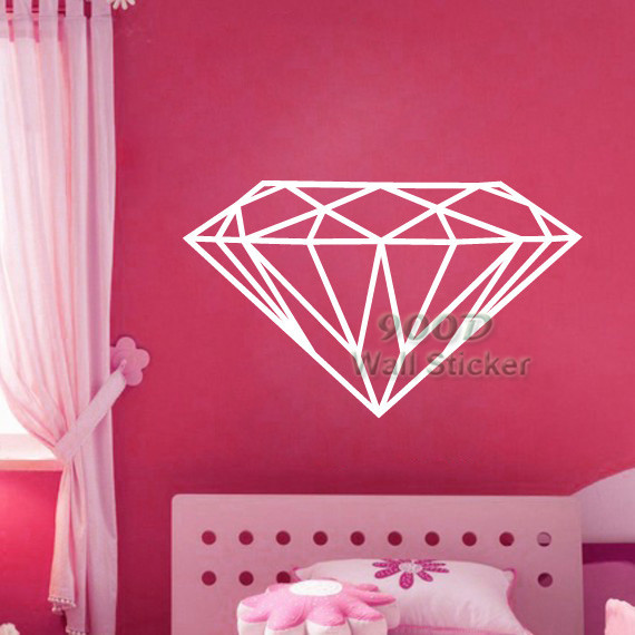 Modern diamond pattern wall sticker wall decal removable home decoration art wall decals free shipping