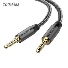 3.5MM Jack AUX Cables Lossless Audio Gold-Plated Auxiliary Cable Nylon Braided HiFi Car Headphone speaker Phone Microphone