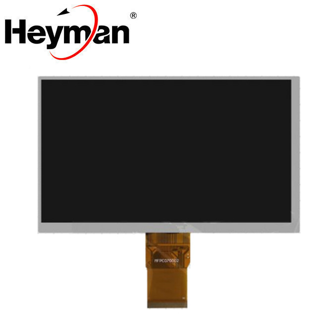 Heyman <font><b>7</b></font>''size LCD display screen(800*480), (164*97 mm), <font><b>40</b></font> mm flat cable, 50 <font><b>pin</b></font>) for China-Tablet PC Replacement parts image