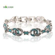 2017 women vintage bracelet hematite christmas crystal turkey folk charms bracelets retro silver plated metal western bracelet
