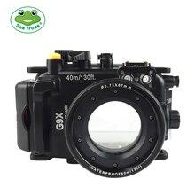 Seafrogs Canon PowerShot G9X G9X II 40m 130ft Meikon Sualtı kamera muhafazası