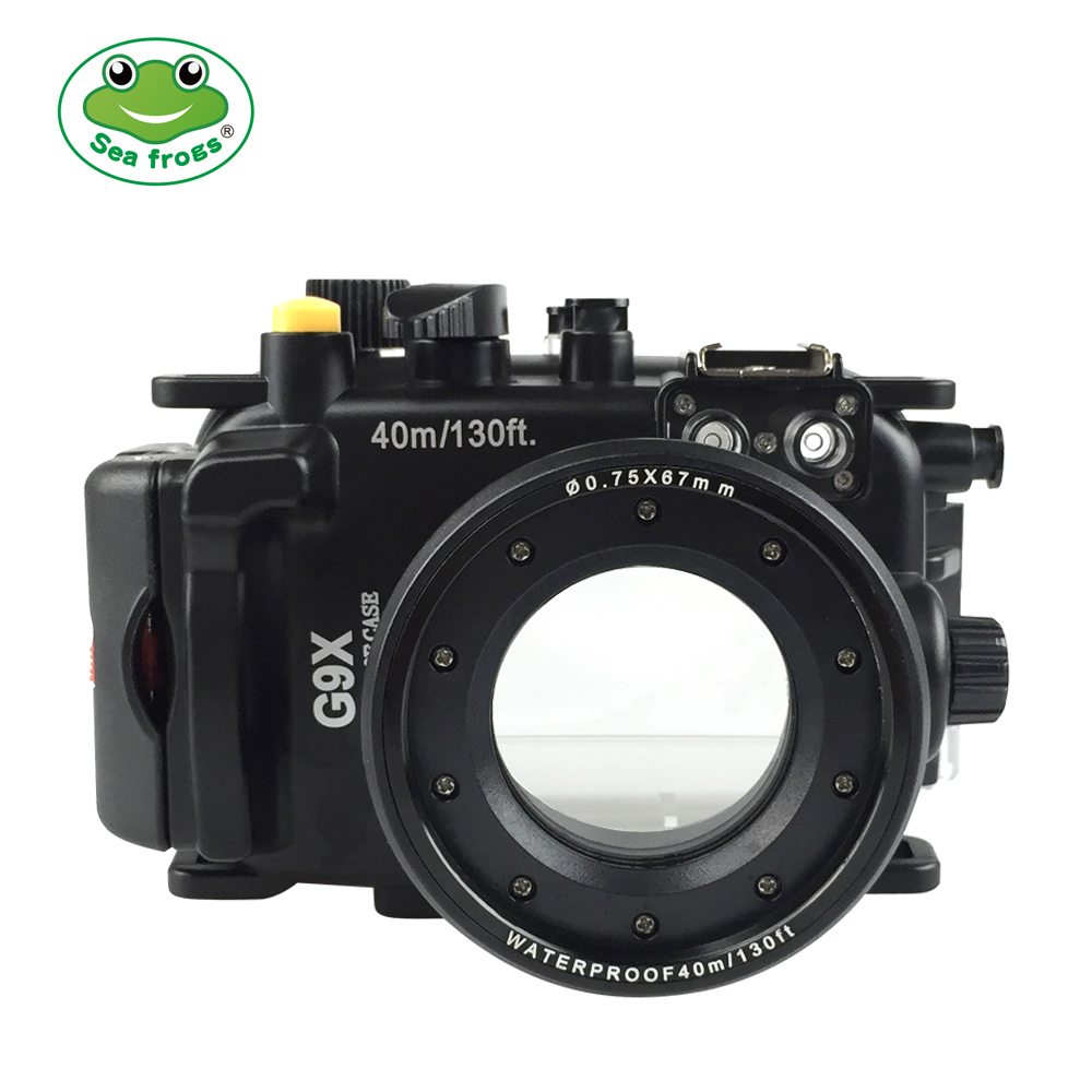 Seafrogs for Canon PowerShot G9X G9X II 40m 130ft Meikon Underwater camera housing in Sports Camcorder Cases from Consumer Electronics
