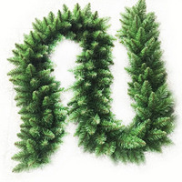 2.7m Christmas Green Wreath Christmas Pine Garland Artificial Wreaths for Xmas Fireplace Tree Ornament Home Decorations