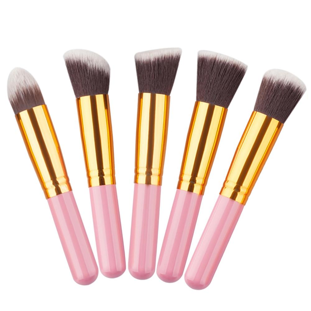 5 Pcs Synthetic Hair Makeup Brushes Foundation Powder Cosmetics Brush Pincel Maquiagem Face Make ...