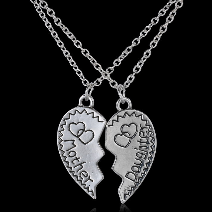 Aliexpress Com 2pcs Lot Puzzle Necklace Handstamped Jewelry Mothers Grandma Sister Mom Family Tree Custom Personalized Bff Best Friend From