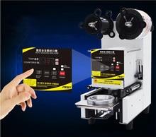 Automatic sealing machine Milk font b Tea b font cup sealing machine Use for soya bean