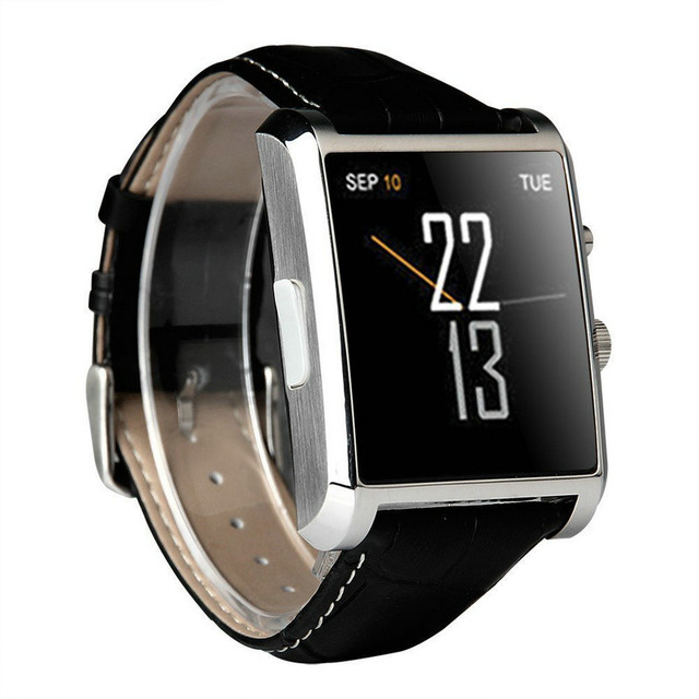 Bluetooth font b Smart b font font b Watch b font DM08 Leather with Camera IPS