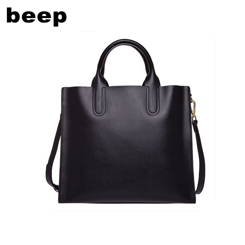 BEEP2018 new high-quality fashion luxury brand genuine leather handbag OL commuter diagonal package fashion shoulder ladies bag beep beep go to sleep