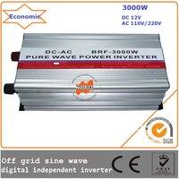 3000w 12 24Vdc 110 220Vac 50 60Hz Off Grid Pure Wave Inverter Digital Independent Inverter With