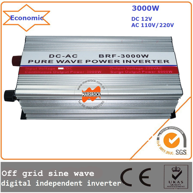 3000w 12/24Vdc 110/220Vac 50/60Hz  off grid sine wave inverter, digital independent inverter with high quality,economic price