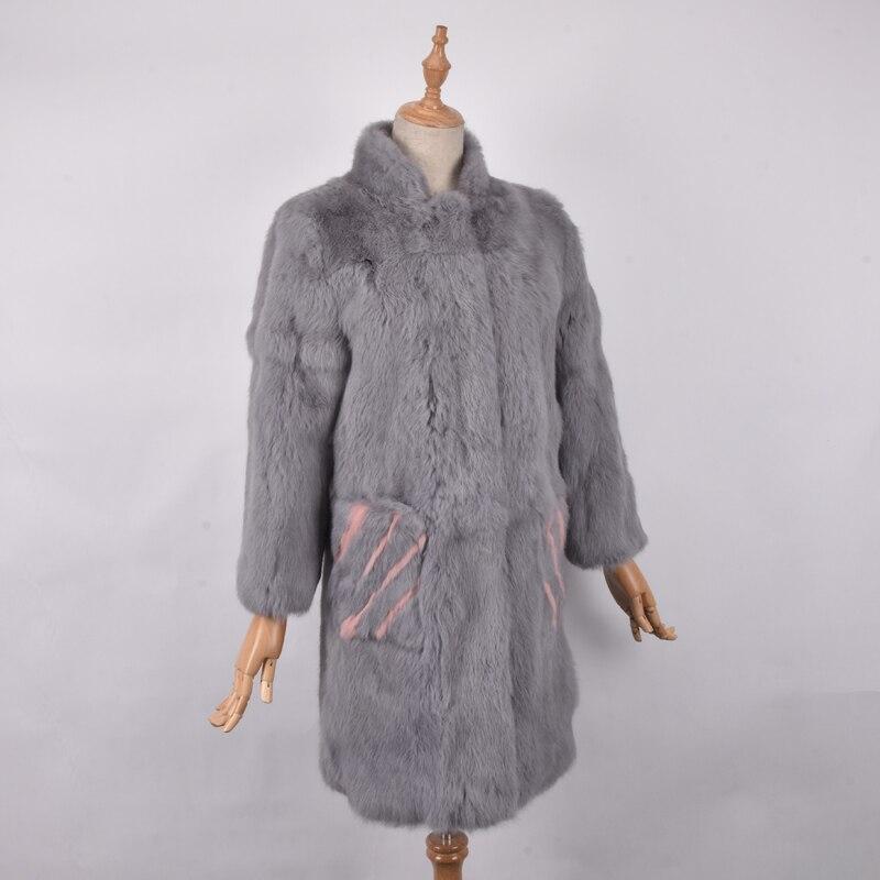 Women Real Rabbit Fur Coat Jackets Genuine Fur Coat Womens Fashion Outwear High Quality Winter Autumn Natural Rabbit Fur Coats