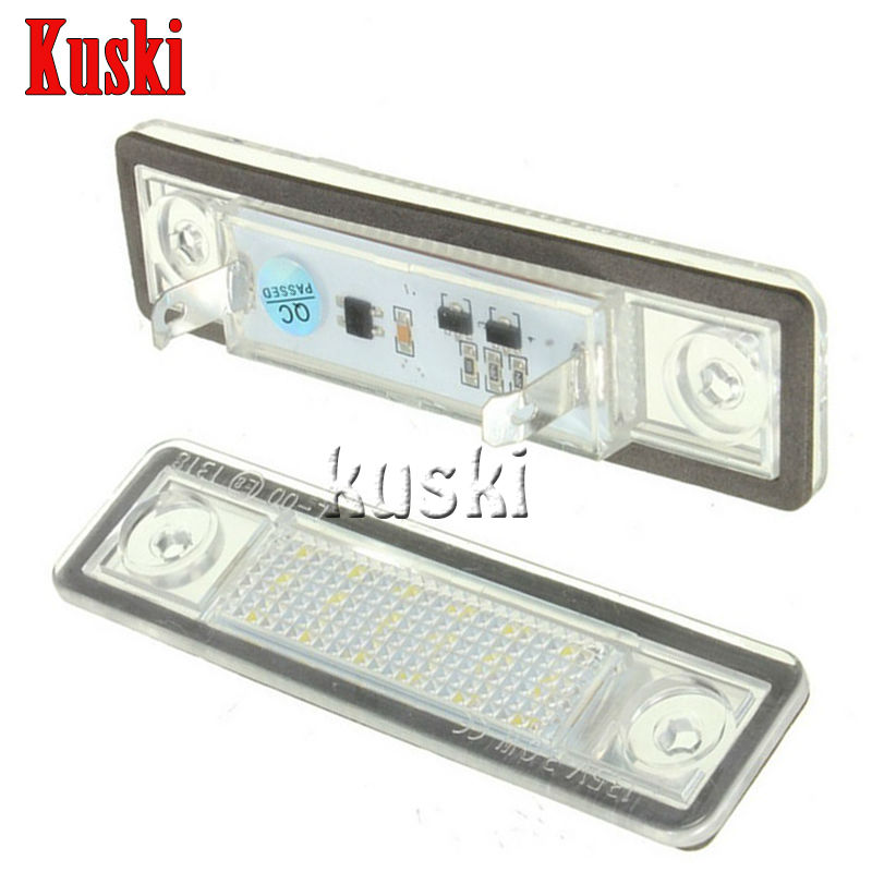 2X LED Number License Plate Light 12V White SMD LED Lamp Car Styling For Opel Astra G Astra F Corsa B Zafira A Vectra B Omega A 2pcs led number license plate light 12v white smd led canbus lamp bulb car styling for opel astra g corsa a b vectra b tigra