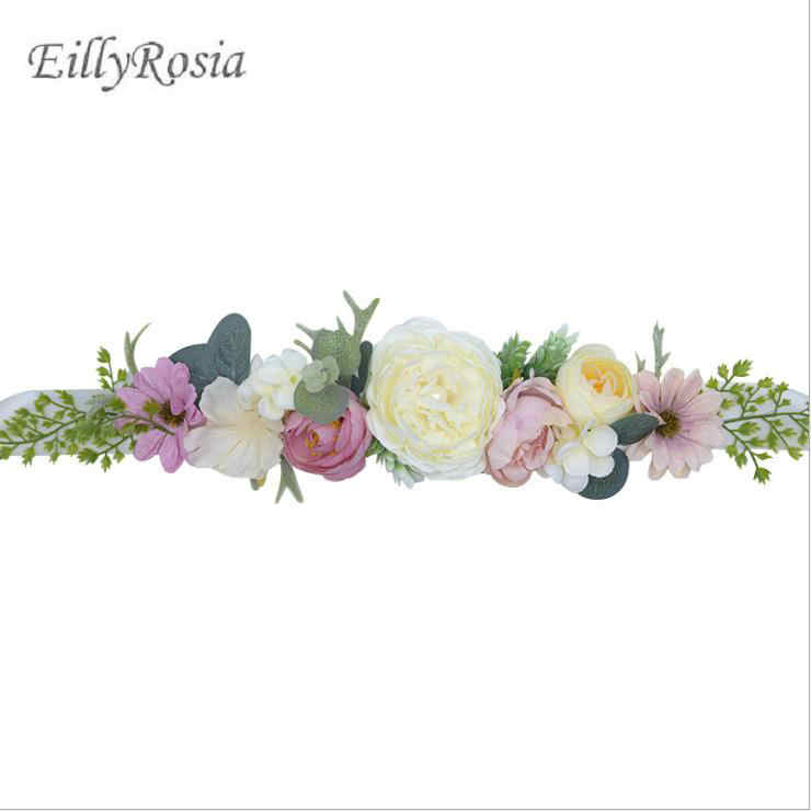 deb8fb194c Eillyrosia Wedding Sash Fashion Floral Women Dress Belts Wedding Bridal Flower  Girl Sash Satin Ribbon Boho