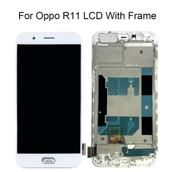 Free Shipping 100% Tested 5.5 inch LCD For Oppo R11 LCD With Frame Touch Screen Display Replacement Assembly Black White