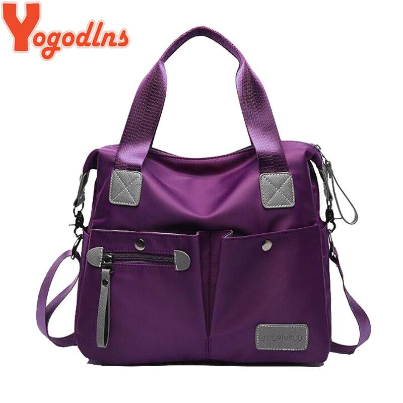 Yogodlns 2019 Women Travel Bag Unisex Luggage Nylon Handbags Large Capacity Female Big Shoulder Bags Tote Vintage Hand Bag