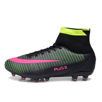 Kids Boy Girls Outdoor Soccer Cleats Shoes TF FG Ankle Top Football Boots Soccer Training Sneakers