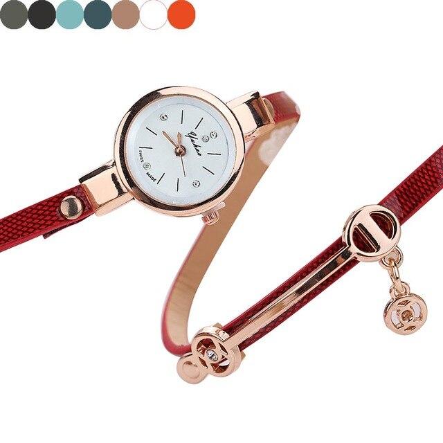 Women watches relogio masculino Leather Strap Bracelet watch women Watches Ladie
