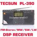 El envío Libre Al Por Menor Al Por Mayor de Tecsun PL390 ETM FM Estéreo INTERRUPTOR MW LW DSP Radio pl-390 Radio Dual Speaker