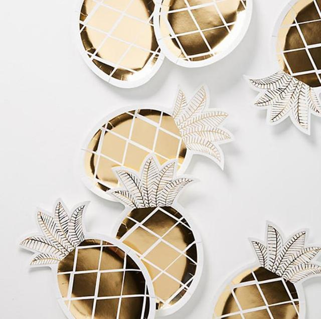 800pcs Pineapple Paper Plates White and Gold Pineapple Party Supplies Fruit Partyware Tropical\u0026 Hawaiian Luau Party  sc 1 st  AliExpress.com & 800pcs Pineapple Paper Plates White and Gold Pineapple Party ...