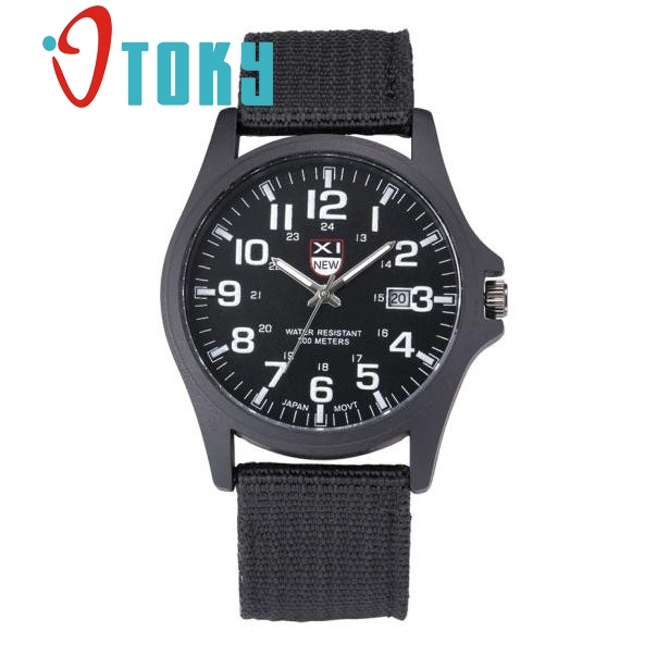 OTOKY Outdoor Relogio Masculino Mens Date Stainless Steel Military Sports Analog Quartz Army Wrist Watch 30