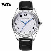 Мужские часы 2020 reloj hombr с кожаным ремешком спортивные