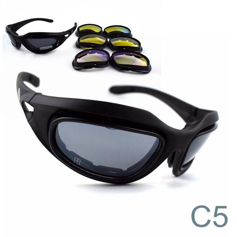 8854dcaf28 C5 polarizado militar gafas de sol táctico ejército Airsoft gafas de ...