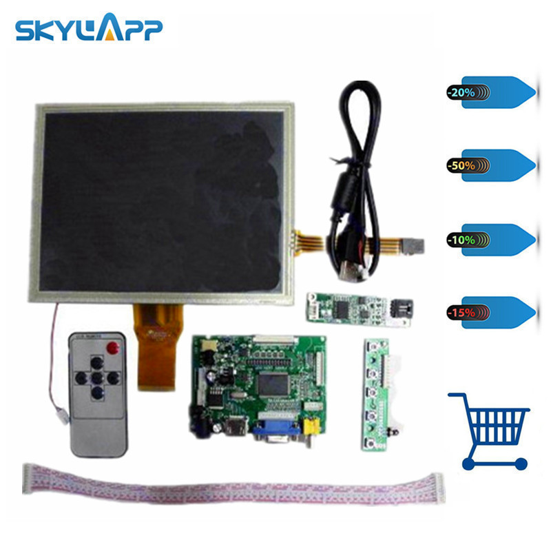 Skylarpu 8inch AT080TN52 + HDMI/VGA/2AV Driver board +touch panel kit for Raspberry Free shipping free shipping pure nature raspberry extract raspberry ketones powder 500mg x 100caps