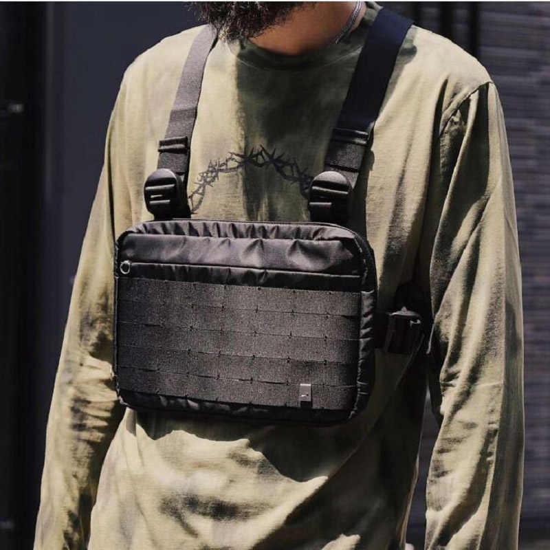 Fashion Chest Rig Men Hip Hop Streetwear Casual Functional Tactical Chest Bag Kanye West Cool Boy Cross Shoulder Bag 030227