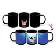 Dragon Ball Z Becher Taza Goku Wärme Reaktiven Magie Farbwechsel Becher Super Saiyan Caneca Kaffeetasse