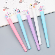4 pcs cute black ink pen Unicorn gel school supplies office stationery 0.5mm EB340