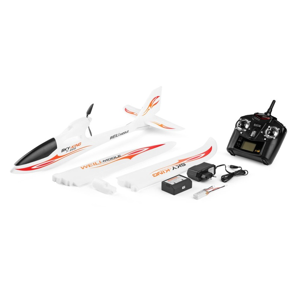 WLtoys F959 2.4G Radio Control 3 Channel RC Airplane Fixed Wing RTF SKY-King Aircraft Foldable Propeller Outdoor Drone Toy wltoys f959 sky king rc aircraft 3ch 2 4ghz rechargeable li po battery wireless remote control aircraft wingspan rtf airplane