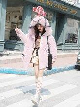 Large Fur Collar Down Jacket Female Long Coat 2018 New Korean Version Thick Fashion Fox Fur Collar European Winter Coat