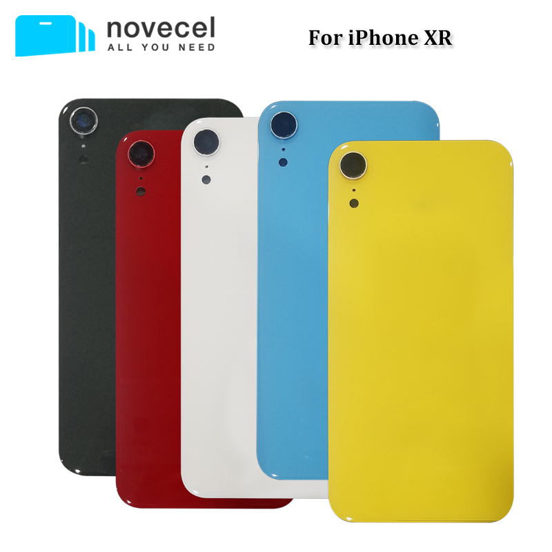 Novecel Battery Back Cover for iPhone XR Backcover Housing Door With Camera Lens Replacement Part Full Assembly