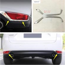 Lapetus Accessories Fit For Mazda CX-5 CX5 2017 2018 2019 Rear Tailgate Lights Lamp Eyelid Eyebrow Decoration Cover Trim 2 Pcs