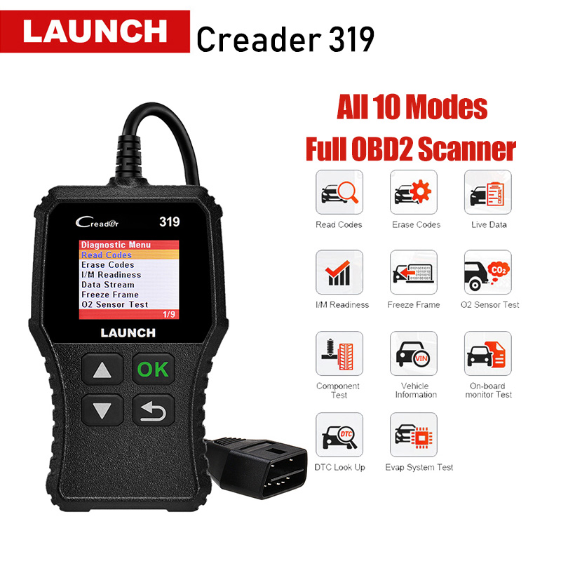 Launch X431 Creader 319 CR3001 Full OBD2 OBDII Code Reader Scan Tools OBD 2 CR319 Car Diagnostic tool PK AD310 ELM327 Scanner(China)