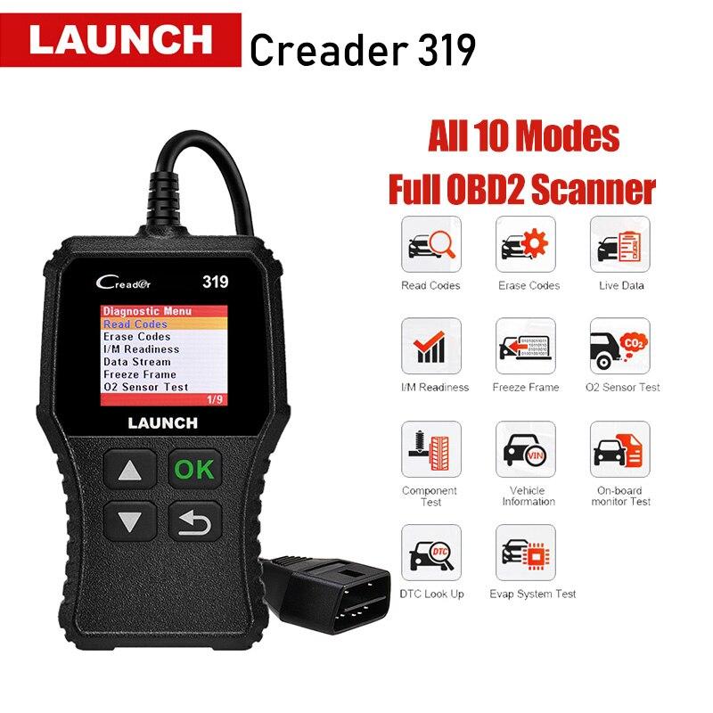 Lançamento Creader 319 CR3001 X431 Completo OBD2 2 CR319 OBDII Leitor de Código de Ferramentas de Digitalização OBD ferramenta de Diagnóstico de Carro PK AD310 ELM327 Scanner