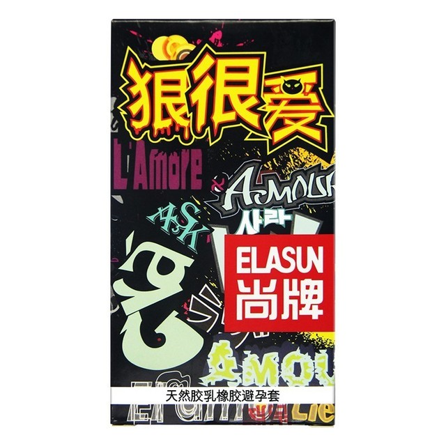ELASUN 32 PCS Ultra Thin Crazy Love Women Pleasure Condoms Natural Transparent Latex Rubber Condom Sex Products for men