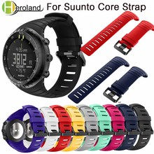 Купить с кэшбэком Bracelet outdoors Sports Silicone watch strap For Suunto Core watchBand Smart watch Replacement TPU Strap Wristband Accessories