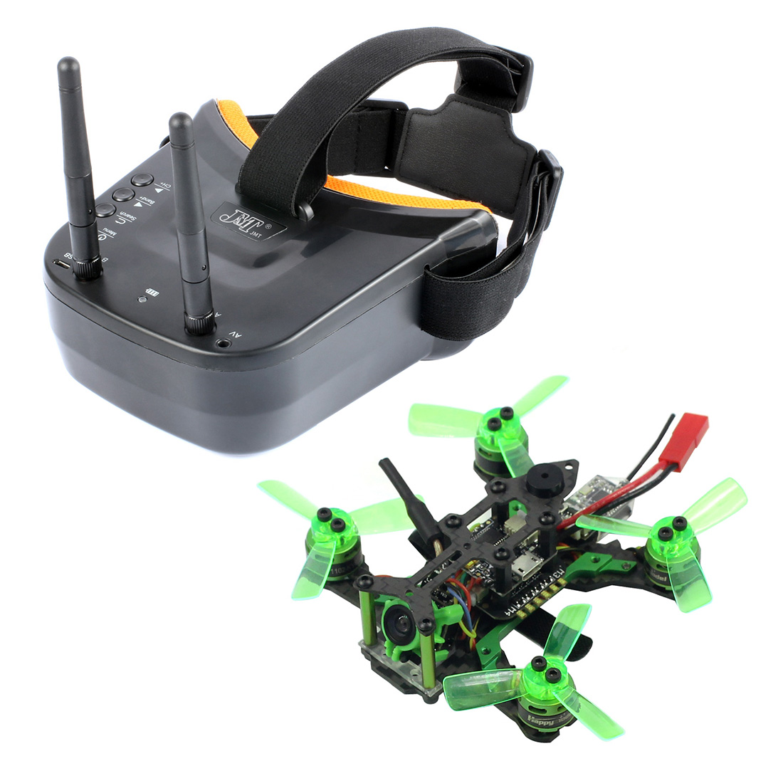 Mantis85 85mm 5.8G FPV Micro Racing Drone Quadcopter BNF 600TVL Camera VTX & Double Antenna 3 Inch Mini Video Goggles for FLysky image