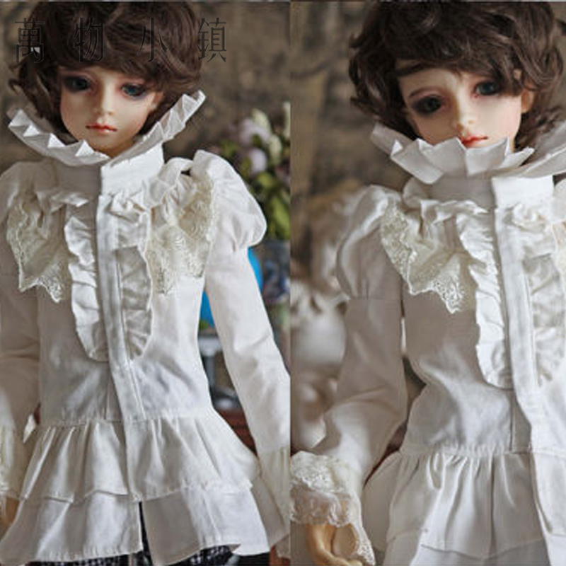Accept custom New Vintage Palace Style White Shirt For BJD SD13 D17boy 1/3 1/4 SD MSD Size Doll Clothes accept custom european style black leather suit bjd uncle 1 3 sd ssdf doll clothes