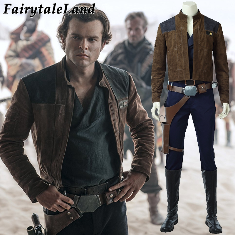 Solo A Star Wars Story Han Solo Cosplay Costume Halloween costumes for adult Men Star Wars Han Solo Costume Custom made