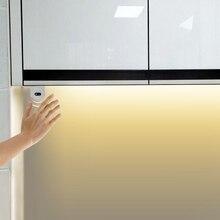 Tiras de luces LED con Sensor de movimiento para cocina, dormitorio, lámpara nocturna, diodo de cinta LED, 1/2/3/4/5M, 12V