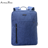 AUTEUIL PARIS Large Capacity Laptop Backpack Travel Bag Man Blue Backpack For School Teenagers Simple Style