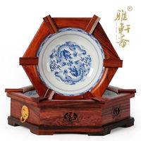 Rosewood Rosewood Carving Crafts Six Angle Dragon Figure Ashtray A Set Of Two Yanju Creative Personality