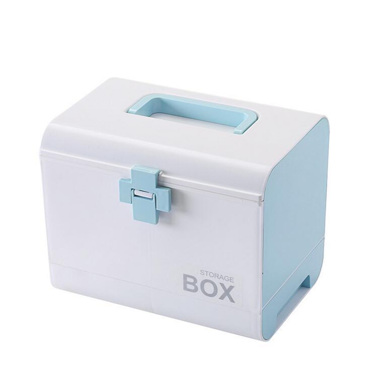 Home medicine emergency medical multi-function multi-layer compartment plastic health box small medicine box less medicine more health