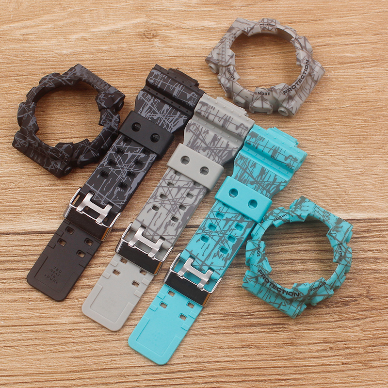 Watch Accessories Camouflage strap For G-SHOCK GA-110 100 GD-120 Men Women's Watch Strap